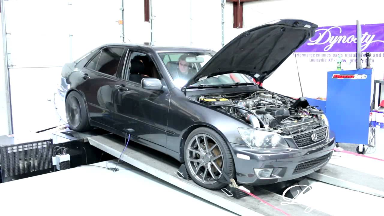 2005 lexus is300 single turbo on dyno at dynosty video. Black Bedroom Furniture Sets. Home Design Ideas