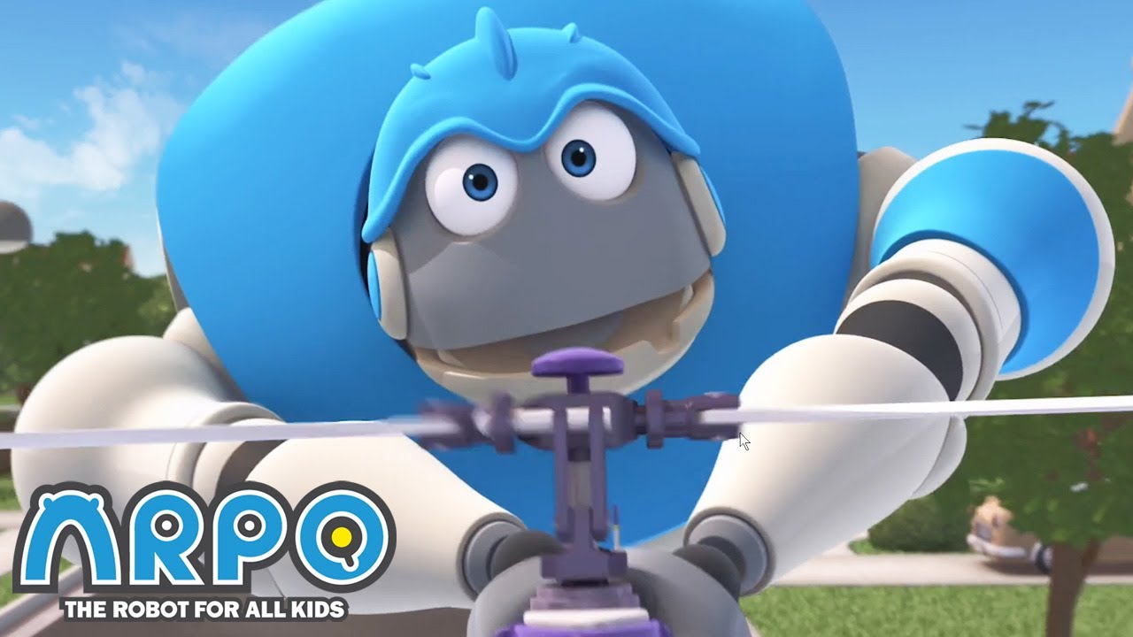 Helicopter in the HOUSE! - ARPO the Robot | 에피소드를보고 | Cartoons for Kids | Robot Animation
