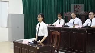 """Phiên tòa giả định"""" kỳ án đồi thông""""/ clb kiểm sát trẻ, hpu"""