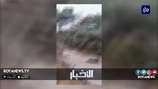 سيولٌ جارفة في مناطقِ جنوبِ المملكة وتحذيراتٌ من خطورةِ الحالة الجوية - (9-11-2018)