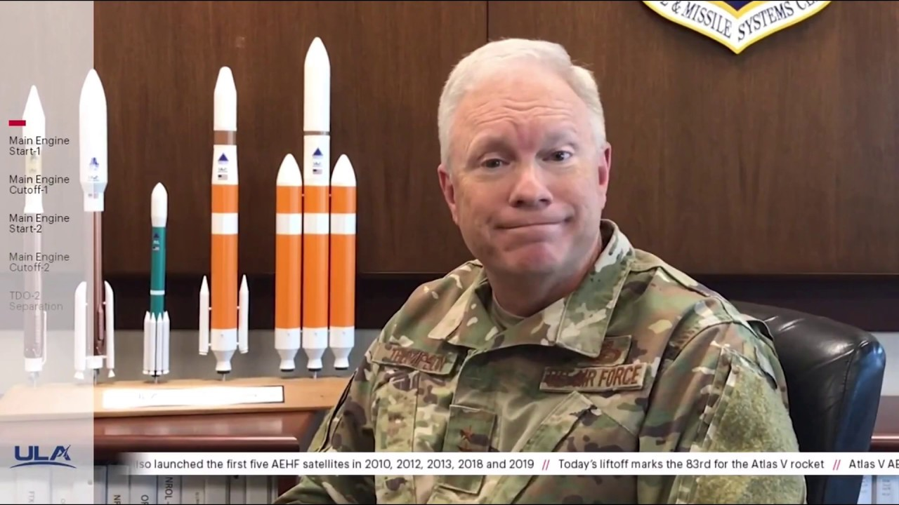 US Space and Missile Systems Center Commander Lt. Gen. John F. Thompson talks about the importance of launching the AEHF-6 military communications satellite for the United States Space Force, even during a pandemic. -- US launches advanced satellite in 1st Space Force national security mission: https://www.space.com/space-force-launches-military-satellite-aehf-6.html