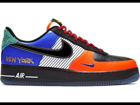 """Nike Air Force 1 """" City of Athletes """" aka """" What the AF1"""