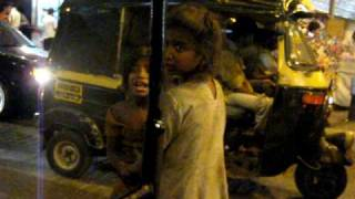 Poverty in Mumbai. Real Slumdog children.