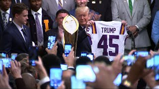 Trump welcomes LSU Tigers to White House