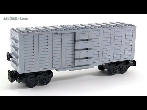 LEGO train Boxcar #1 - custom MOC