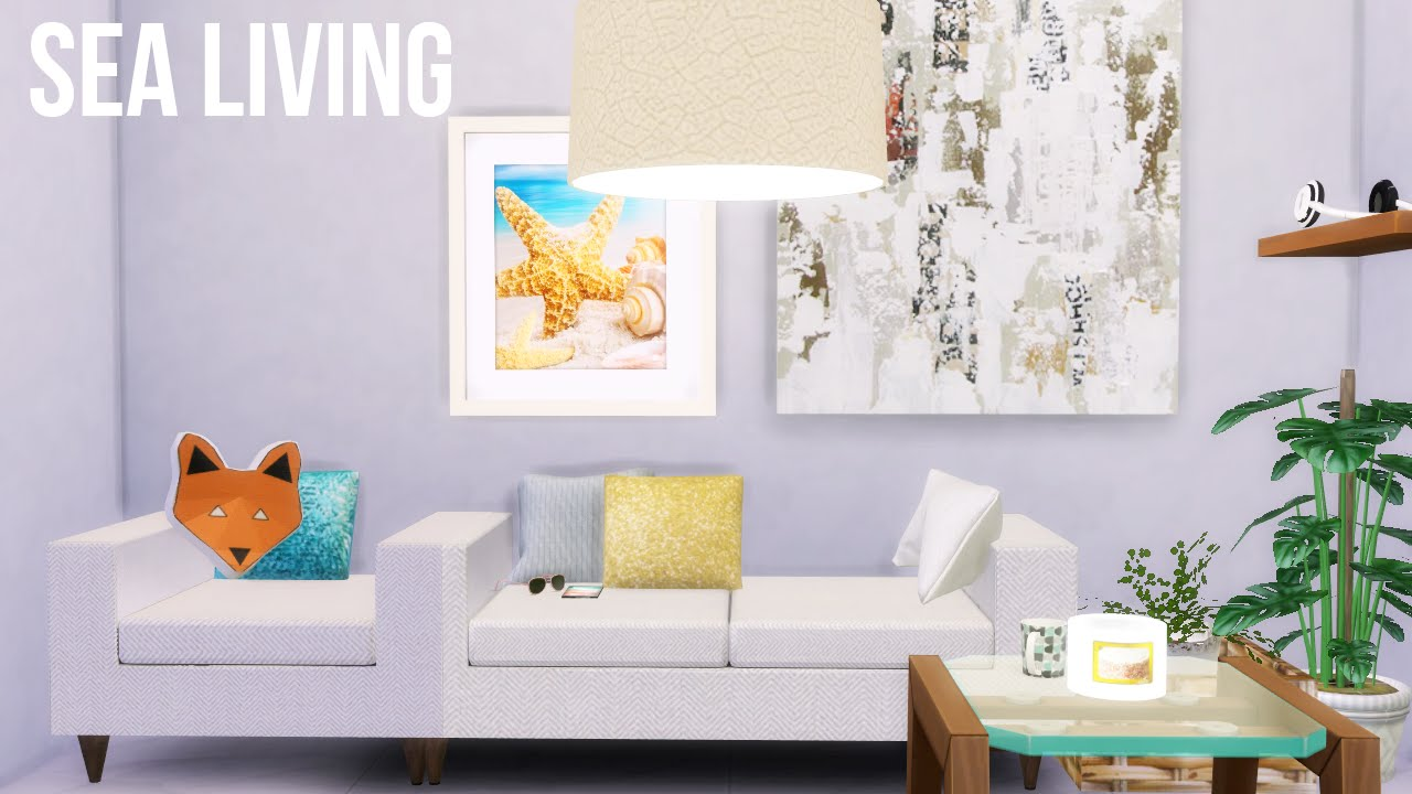 the sims 4 white sea livingroom room decor youtube