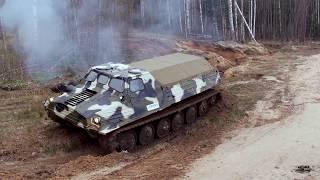 Плавающий гусеничный тягач ГТ-Т сток.