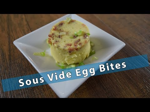 Sous Vide Bacon Egg Bites - Breakfast - Super Easy!