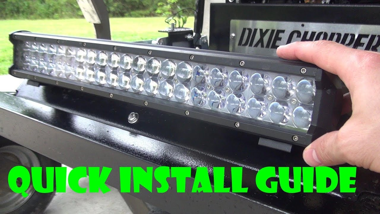 How To Install Lights For Zero Turn Youtube Led Light Bar Wiring Harness With Remote Including Simple Circuit