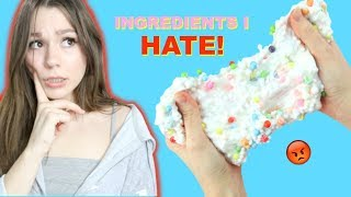 MAKING DIY SLIMES WITH INGREDIENTS I HATE! (Awesome slime DIYs with HORRIBLE ingredients!)
