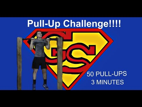 50 Pull-Ups in 3 Minutes!! Ginger Superman Challenge