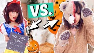 Halloween Make Up BFF BATTLE ⚡️Zombie Teddy vs. Böses Schneewittchen | ViktoriaSarina