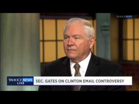 "Gates: Clinton Showed ""Error In Judgment"" With Email Server"