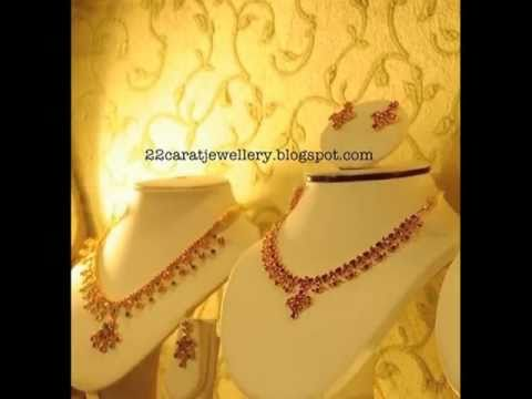 Ruby Emrald Pearls Necklace And Earring Sets Jewellery