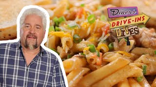 Guy Fieri Tries Smoky Blackened Chicken Pasta | Diners, Drive-Ins and Dives