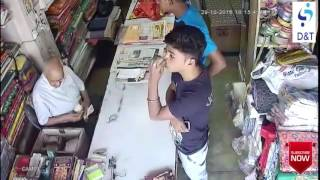 thief caught on CCTV camera in india shop|| smart boy work