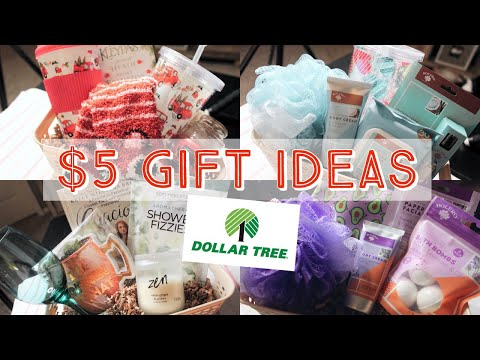 Dollar Tree Gift Ideas For $5! (Basket Extra) | Great For Teachers & Coworkers | Secret Santa