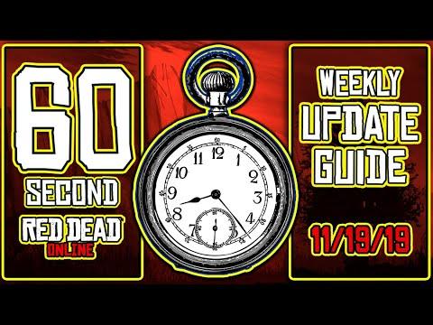 60 Second - #RedDeadOnline #WeeklyUpdate Guide: 11/19/19