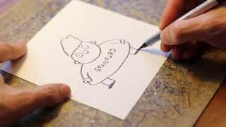 How to draw Rollo Tookus by Stephan Pastis (Timmy Failure)