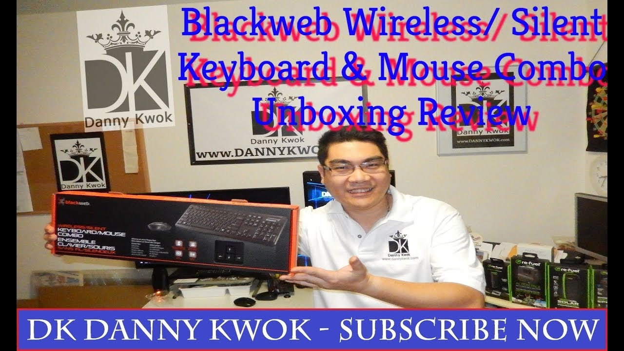 abea2b4e50b Blackweb Wireless/Silent Keyboard and Mouse Combo - unboxing Product Review