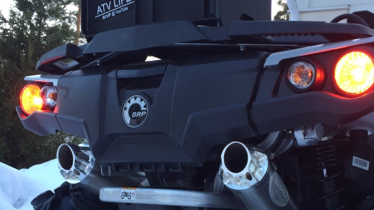 rjwc dual exhaust can am outlander 1000