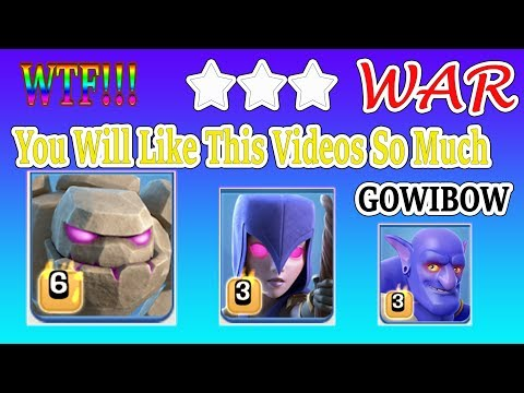 COC 3 star th11 War GoWiBo Attacked, This Is Insane  3star destroy th11 Max, Clash of clans th11