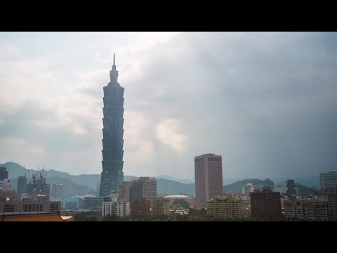 Big City Time Lapse Taiwan Asia Stock Video