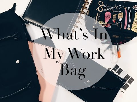What's In My Work Bag | Longchamp Le Pliage Neo