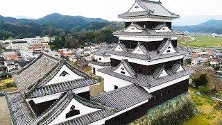 愛媛県大洲市にある「大洲城」をドローンで空撮