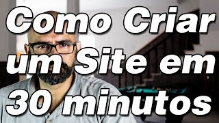 Como Criar um Site(Como criar um site em 30 minutos https://www.facebook.com/rogerioperali Depois de dois anos parado, voltei com um vídeo mostrando como criar um site, ..., 2014-05-07T13:10:54.000Z)