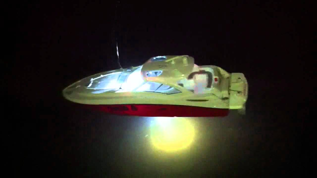 Rc boat with led lights