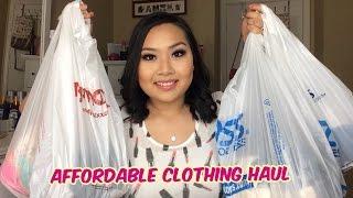 Repeat youtube video HUGE Affordable Clothing Haul & Try On (Ross, Tjmaxx, Marshalls, Burlington Coat Factory)
