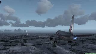 Snowy Kansas Approach American A320 - [Runsame Classics] FSX
