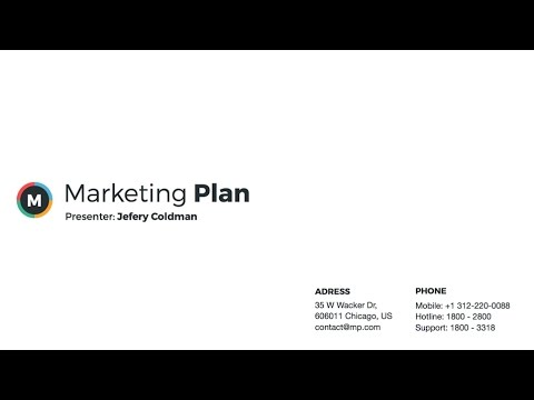 marketing plan powerpoint template - youtube, Modern powerpoint