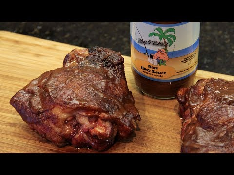 BBQ/Smoked Turkey Thighs with Reel BBQ Sauce
