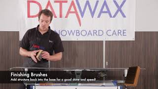 Brushing Skis after Waxing to Create a Sleek Finish