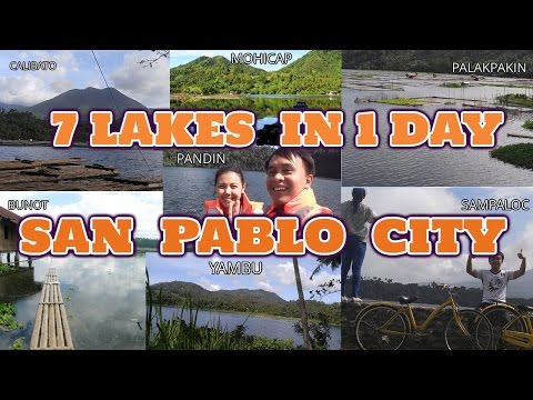 Seven Lakes in One day - San Pablo City Philippines