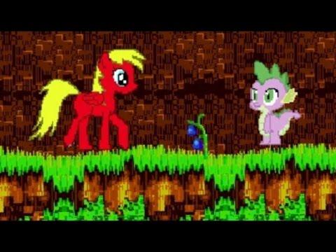 Пони игра. Твайлайт перекрасилась и ищет кристаллы для Спайка. My little pony мультик игра.