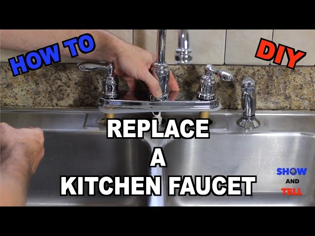 How To Replace A Kitchen Sink Faucet Youtube