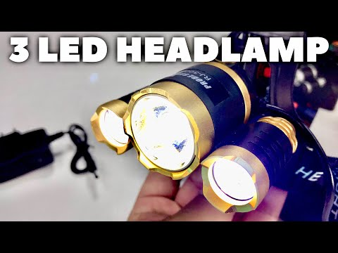 Super Bright 5000 Lumen 3 LED Zoomable Headlamp by Free Walker Review