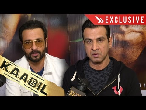 Kaabil EXCLUSIVE Interview | Rohit Roy & Ronit Roy Play Villain | First Film Together