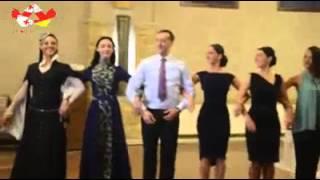 Осетинский танец на грузинской свадьбе