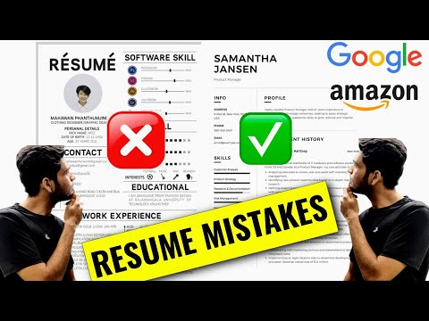 How To Make A Resume 🔥 (Software Engineer)  #1 | For Experienced & Freshers
