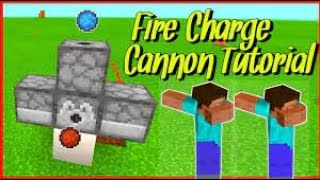MAKING A FIRE CHARGE CANNON IN MINECRAFT!