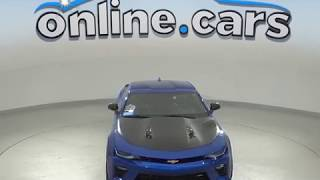 A99104GT Used 2017 Chevrolet Camaro SS RWD 2D Coupe Blue Test Drive, Review, For Sale