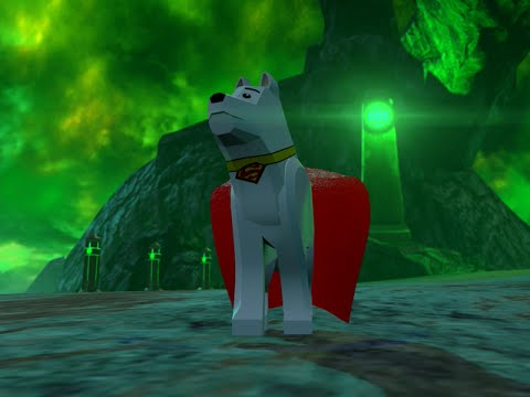 LEGO BATMAN 3 - Krypto The SuperDog FREE ROAM GAMEPLAY