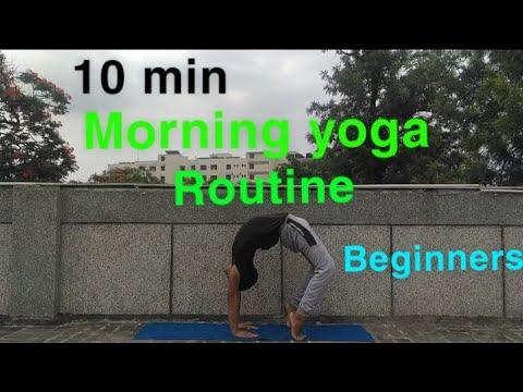 10 min morning yoga for beginners  full body stretch