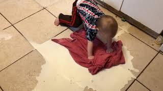 Baby spills milk AGAIN!!!