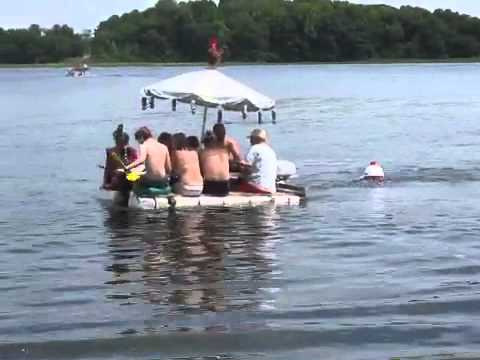 The original picnic table boat youtube for Picnic boat plans