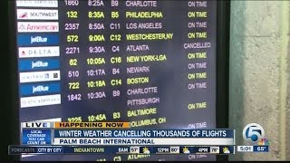 Winter weather canceling more South Florida flights